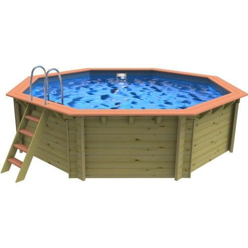 Plastica Mayfair Premium Wooden Swimming Pool - 5m Octagonal