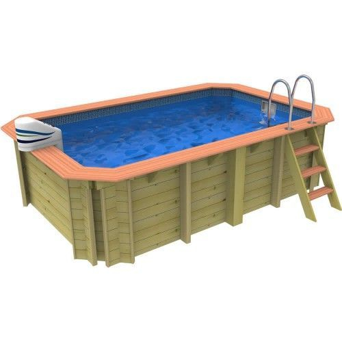 Plastica Wooden Exercise Swimming Pool