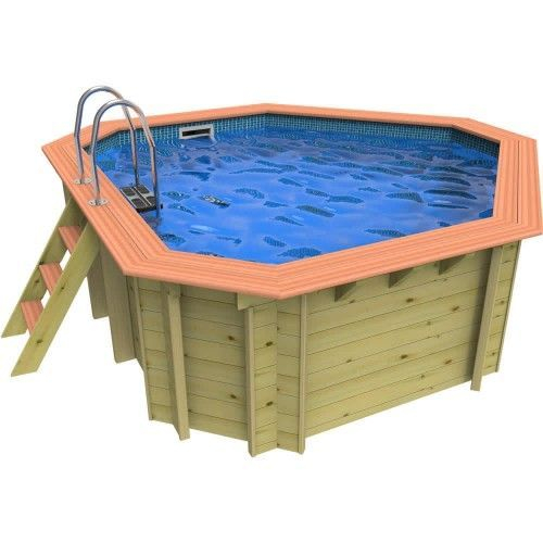 Plastica Richmond Corner Wooden Swimming Pool - 3.3m x 3.3m