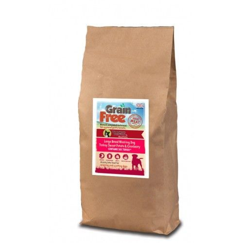 Grain Free Large Breed Working Dog Food Turkey, Sweet Potato & Cranberry