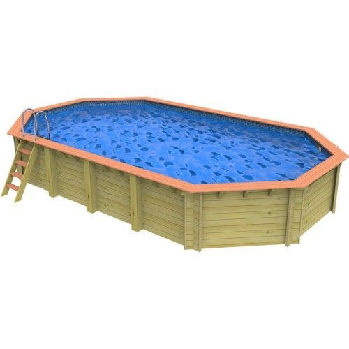 Plastica Westminster Wooden Swimming Pool - 8.2m x 4.6m Stretched Octagonal