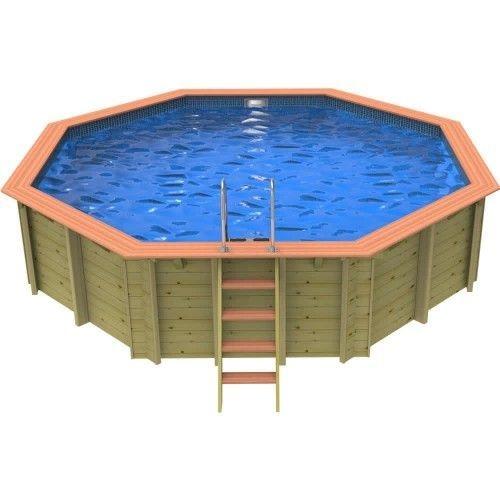 Plastica Hampstead Wooden Swimming Pool - 5.5m Octagonal