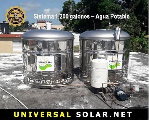 Tanque de agua stainless steel 304