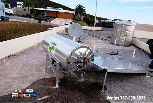 calentador solar y cisterna oferta