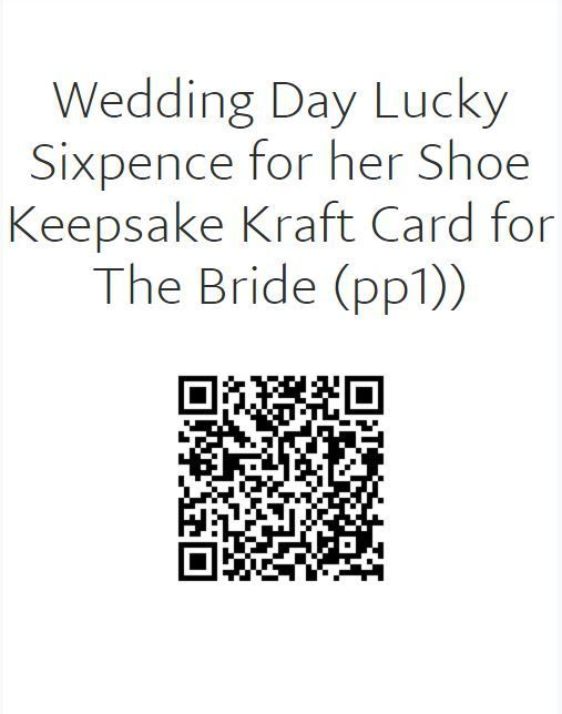 Wedding Day Card with Sixpence