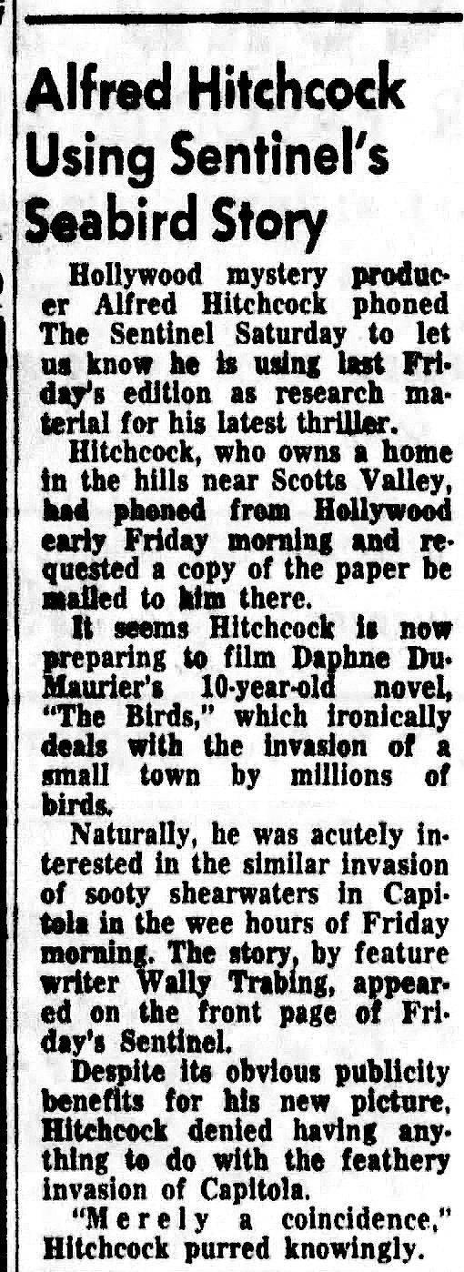 Alfred Hitchcock Santa Cruz haunted