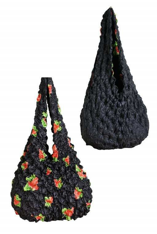 BagP-352 Strawberry Fest Outside Black with Strawberries Inside Black