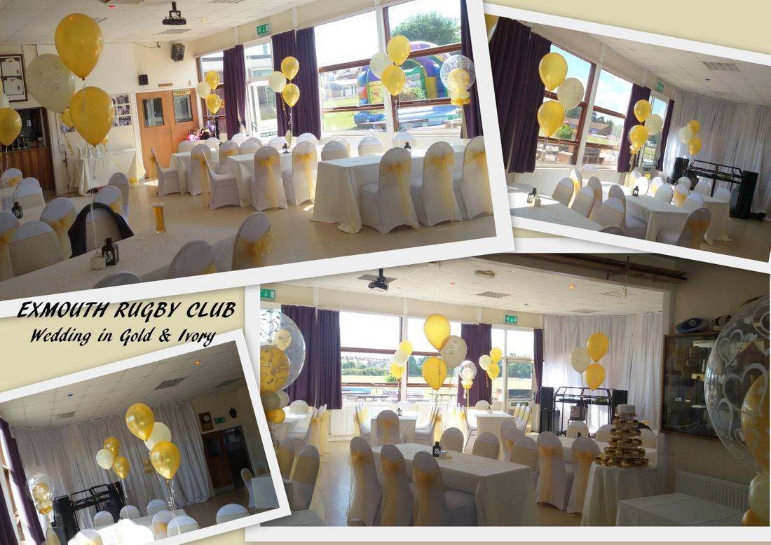Exmouth Rugby Club - Gold decor