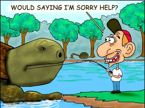 fisherman, turtle, scary, humor, catch, angry turtle