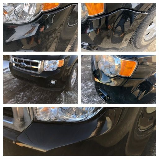 2009 Ford Escape front bumper repair
