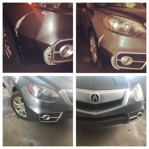 2009 Acura Front bumper repair!