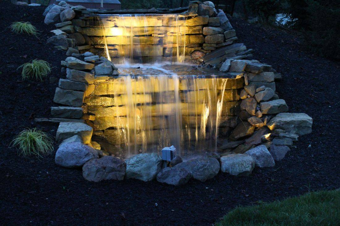 waterfall, customer waterfall, natural stone waterfall
