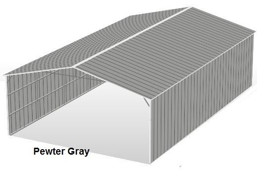 Pewter Gray Metal Structures