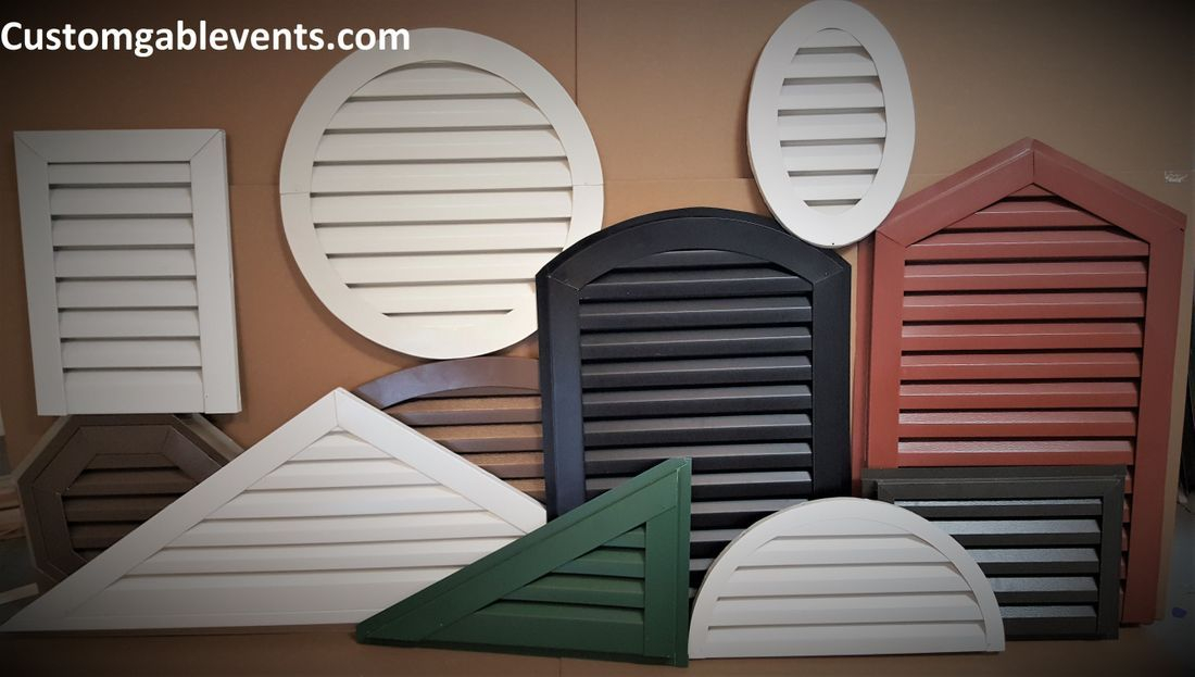 Custom gable louvers and vents