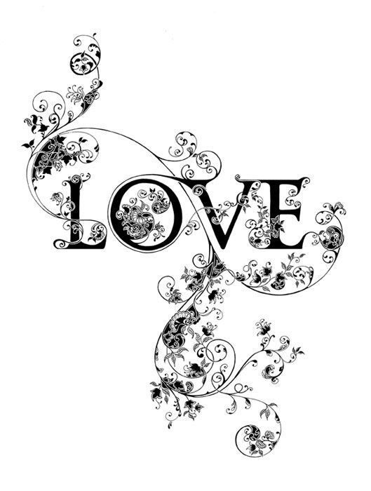 Monochrome love image used on header of with Love page