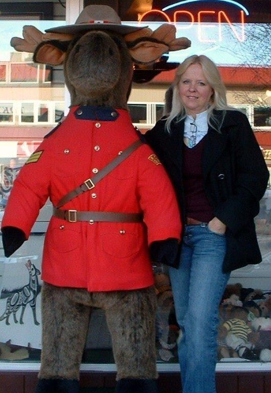 Dawn rcmp moose in Whitehorse, Yukon
