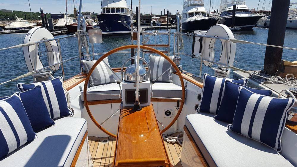Perennials fabrics, Newport Yacht Interiors, Little Harbor yachts