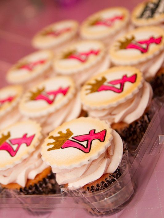Number Princess Crown Custom Cupcake Toppers Milwaukee