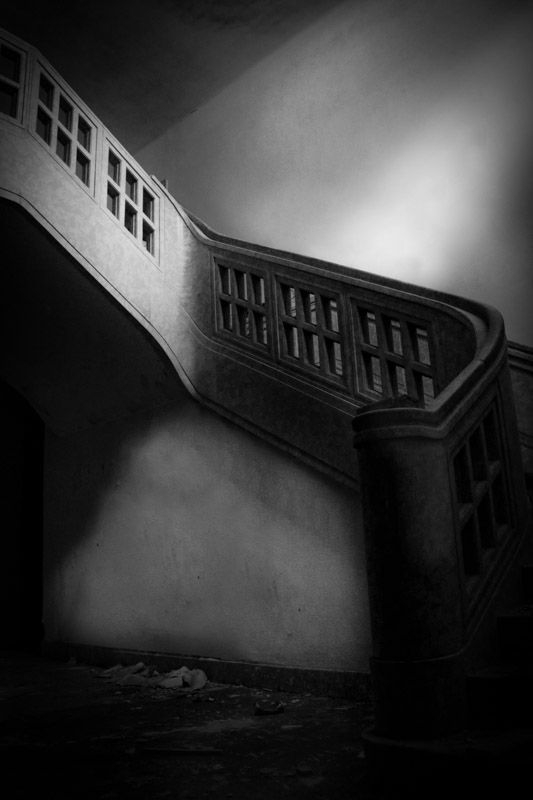 Stieven Rogiers Photography Stairway   Fine Art Black and White picture