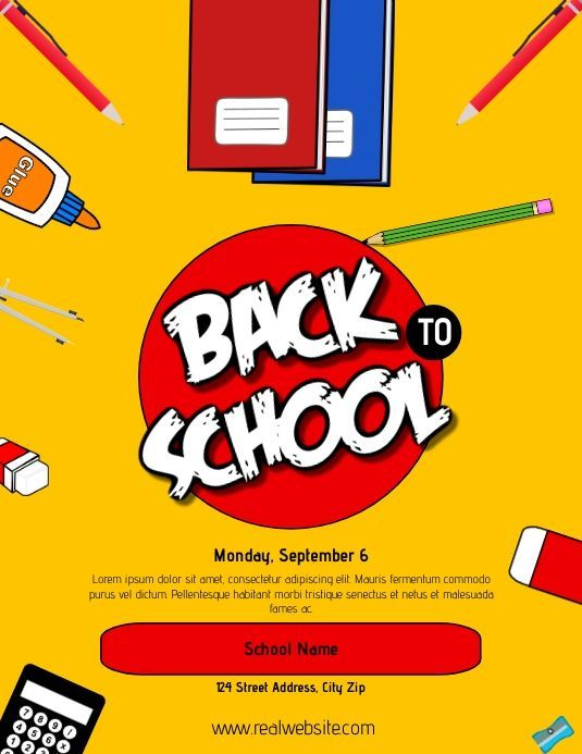 back to school flyer, school flyer