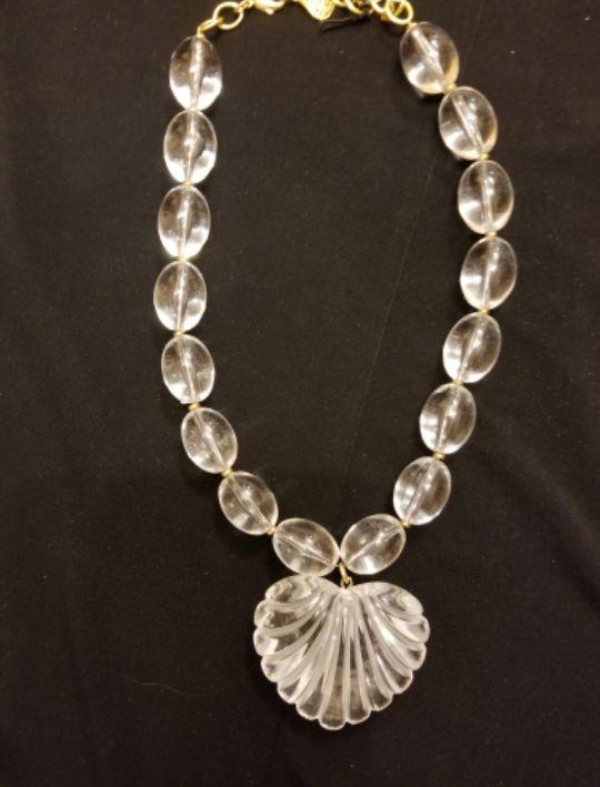 Lucite Heart Necklace