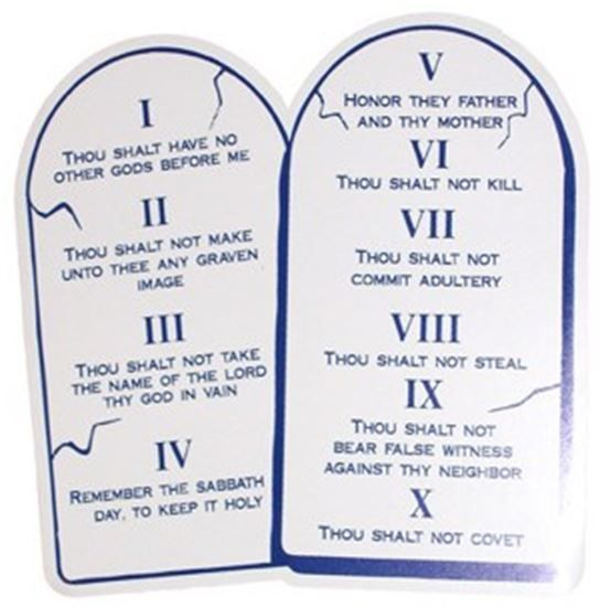 God's 10 commandments are for us to live by.