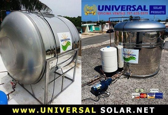 Tanque en stainless steel a la venta en Puerto Rico. universalsolarpr.com. 787-635-5575