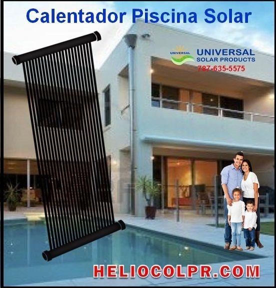Piscina, calentador solar Puerto Rico