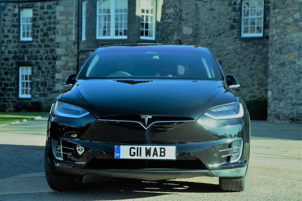 Tesla Model X Wedding Car