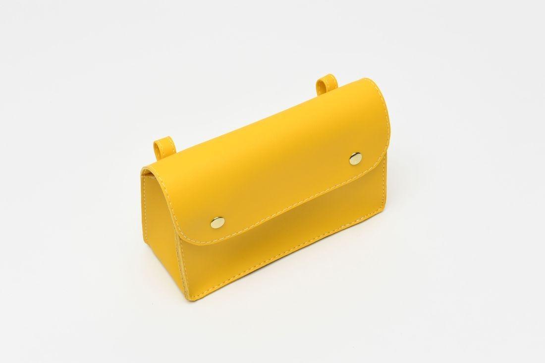 yellow bike bag, cycle bag