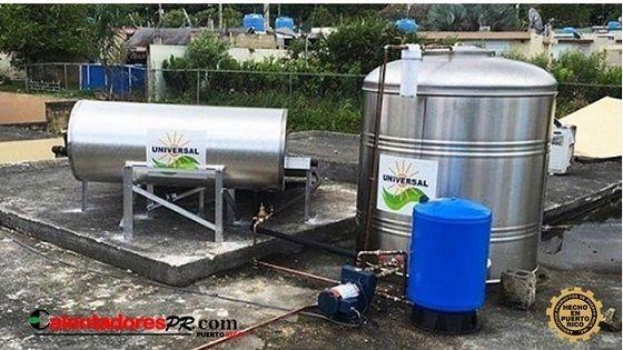 Calentador Solar y Tanque de Agua