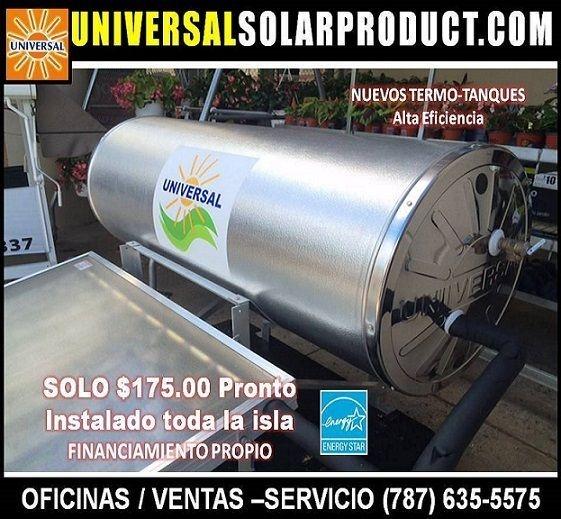 Tanque calentador solar 82 y 120 galones