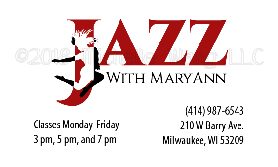jazz dance studio business card dancer movement
