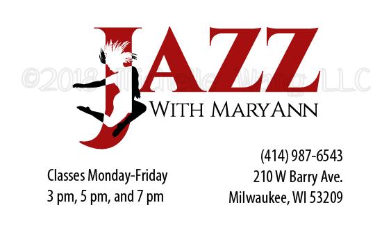 jazz dance studio business card dancer movement