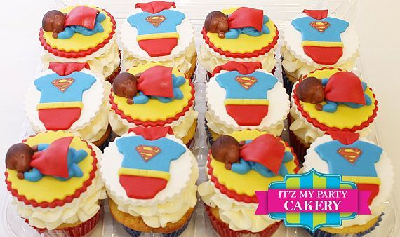 Superman Baby Custom Cupcake Toppers Milwaukee