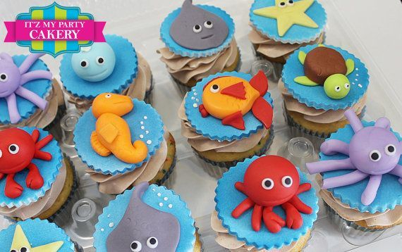Under The Sea Custom Cupcake Toppers Milwaukee