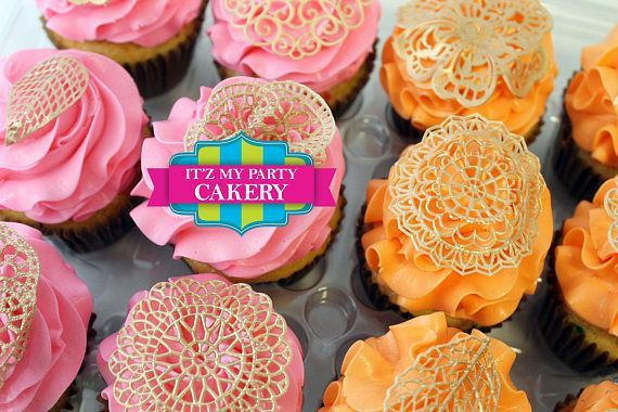 Edible Lace Custom Cupcake Toppers Milwaukee