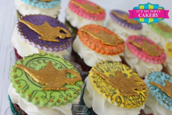 Genie Lamp Custom Cupcake Toppers Milwaukee