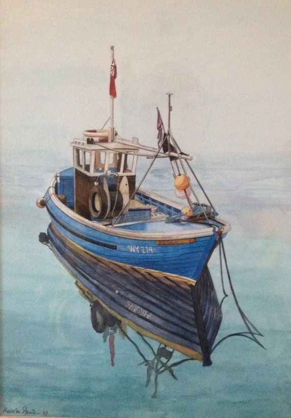 Whitby Fishing Boat : Watercolour Commission (SOLD)
