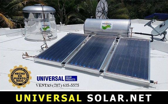 Calentador Solar tres placas y cisterna de agua