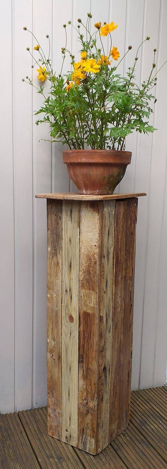 Rustic Wood Plinth Hire, Venue Styling, Surrey, Hampshire
