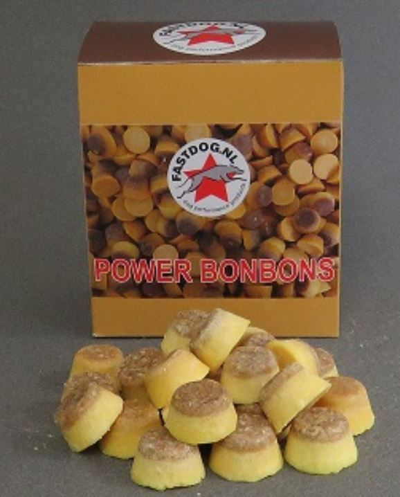 Fastdog Power bonbons schapenvet Voedingssupplementen Ellen's Happy Dogs Hasselt