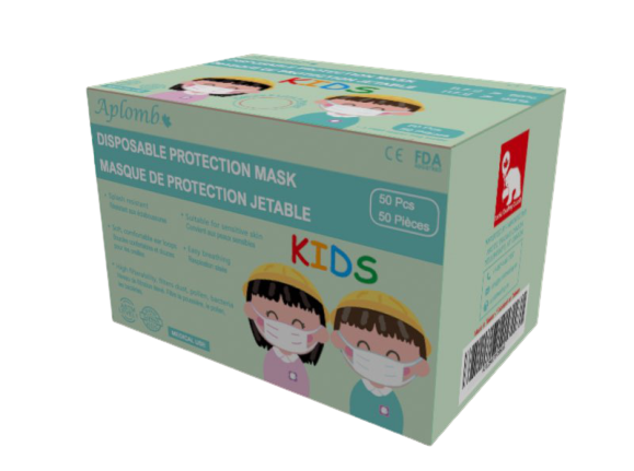 Aplomb Disposable 3 PLY medical face mask for kids