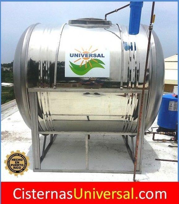 Tanque de agua 600 galones montado sobre una base