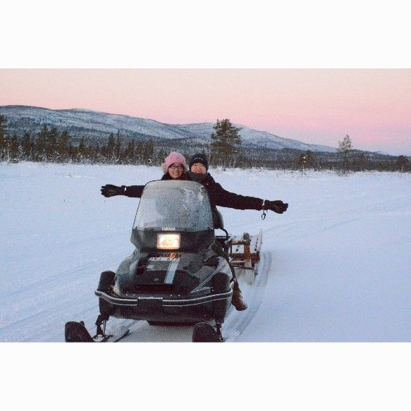 Snowmobile tour, wilderness tour, guided tour
