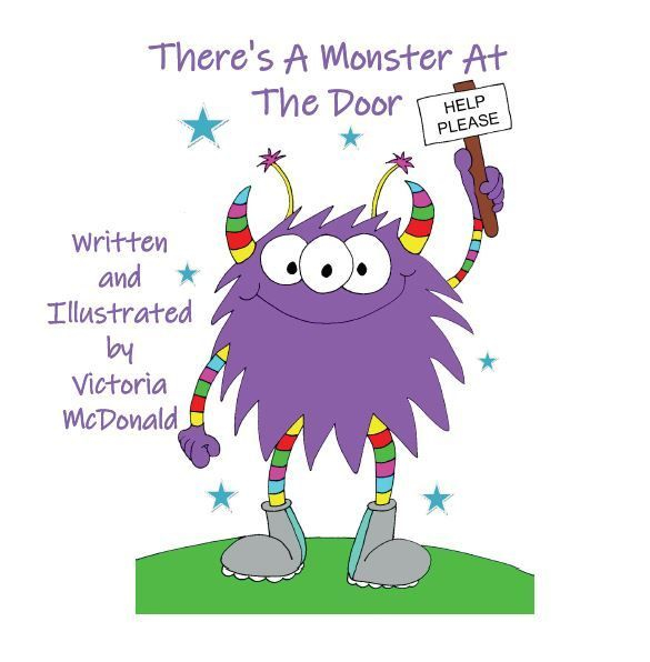 Children's book, children, monster, spaceship, funny
