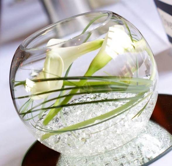 White callas fishbow
