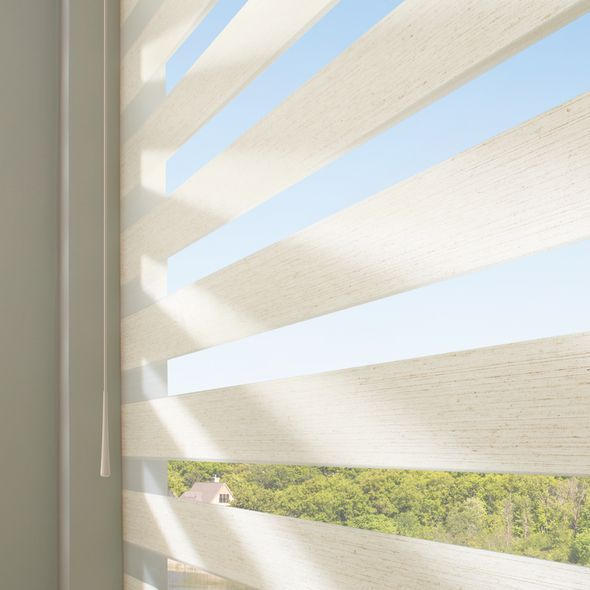 SoftTouch Motorization makes it easy to adjust shade positions for light or privacy.
