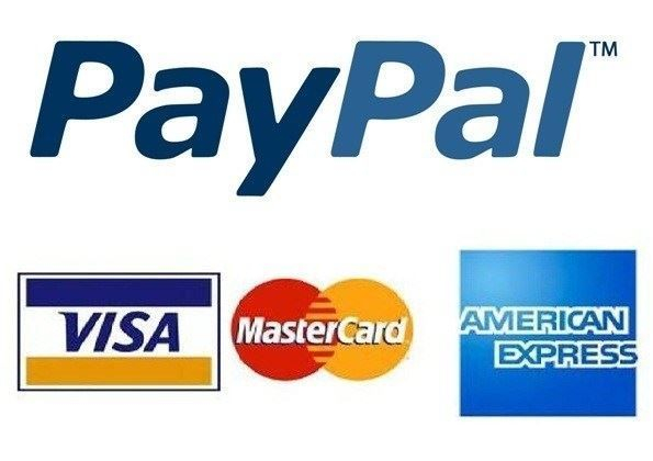 We take all major credit cards and Paypal.