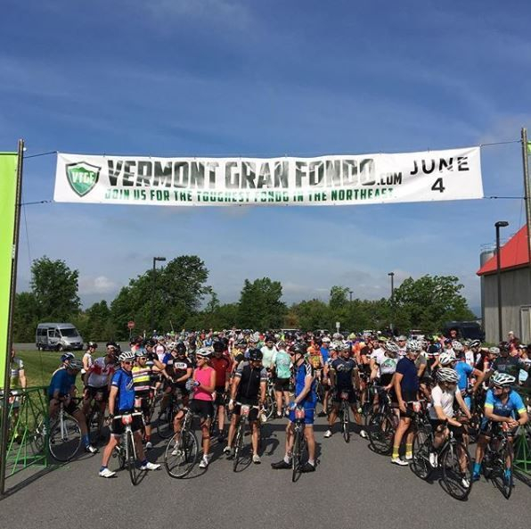 Vermont Gran Fondo bike ride Middlebury Vermont